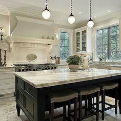 Black Kitchen Island, Traditional, kitchen, Robert Frank Design
