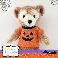 Jack o Lantern Top 17 Duffy Bear 17 Shellie by ThatsSewAmandaShop on etsy - All dressed up for Halloween!