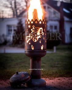 Heckenkessel oder bei uns auch Terrassenofen #tanzindenmai #hexenfeuer #walpurgisnacht #Terrasse #hexen #hexe #besen