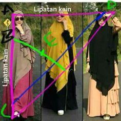 Jilbab langsung depan segitiga