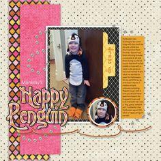 Mommy's Happy Penguin layout by Kristen Hess | Pixel Scrapper digital scrapbooking
