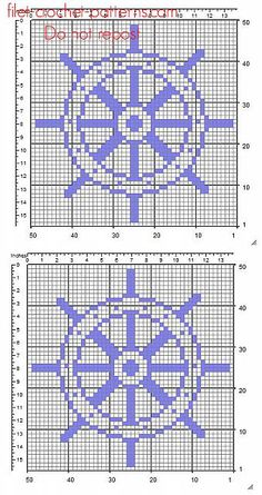 A rudder free simple crochet filet pattern insert - free filet crochet patterns download