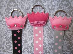 Perfect Princess Hair Bow Holder - Adorable Puffy Felt Crown with Bling - Pick One