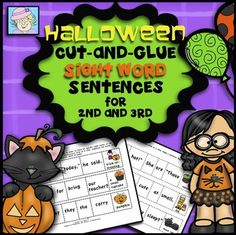 This set of 60 cut-and-glue sentences includes more than 130 Dolch sight words. They are appropriate for use in second and third grade. These sentences are perfect for teaching not only sight words, but also grammar and punctuation.The cut-and-glue sentences work well as a center activity, for small group reading instruction, or as a large-group activity. $3