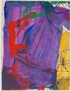 Franz Kline: Untitled (Color Abstraction), c. 1950.