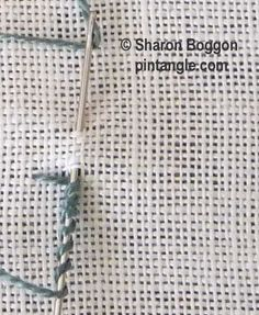 I ❤ embroidery . . . bullion buttonhole step 1 ~By SharonB, PinTangle