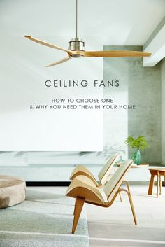 How to choose a ceiling fan and why you need them in your home - We Are Scout A guide to help you choose the right ceiling fans for your home. You might be surprised at the cost saving benefits of using ceiling fans throughout the year. Best Ceiling Fans, Outdoor Ceiling Fans, Modern Ceiling Fans, Designer Ceiling Fans, Scandinavian Ceiling Fans, Contemporary Ceiling Fans, Living Room Ceiling Fan, Home Ceiling, Ceiling Decor