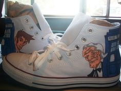 Custom Hand Painted Doctor Who Canvas Shoes
