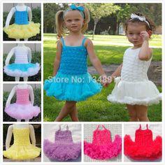 Layered fluffy children girls dresses kids cute rosette pettiskirts dress puffy toddler baby petti tutu dress Free Shipping