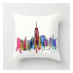 New York Inked  Throw Pillow ($20) ❤ liked on Polyvore featuring home, home decor, throw pillows and new york home decor