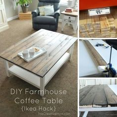 ikea hack planked coffee table living rooms sets Gone are the days when decorating was a out deal. Today's home decor ought to. Coffee Table Ikea Hack, Coffee Table Makeover, Coffee Table Furniture, Ikea Furniture, Furniture Makeover, Coffee Tables, Coffee Coffee, Furniture Projects, Ikea Sofa Table