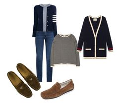 """blue"" by milasnotes on Polyvore featuring мода, M.i.h Jeans, Thom Browne, To Boot New York, Prada, Eileen Fisher и Gucci"