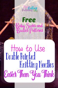 Learning how to use Double pointed knitting needles is easier than you think. Some believe that knitting in the round means circular needles and some think that is terrifying. DPN's are an easy option. Free Knitting Patterns for…Read Crochet Patterns For Beginners, Knitting For Beginners, Easy Knitting, Baby Knitting Patterns, Knitting Stitches, Baby Patterns, Knitting Socks, Knit Socks, Knitting Tutorials