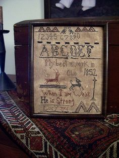 primitive+sampler | Primitive Inspirational Sampler by Linda Babb...theprimitivestitcher ...