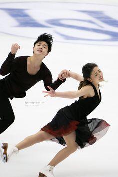 us-ice-dance: 4CC FD Practice Maia Shibutani & Alex Shibutani