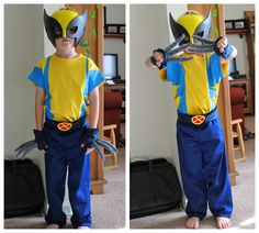 Learn how to make this awesome (+easy) X-men Wolverine costume.