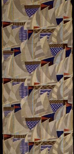 Furnishing Fabric made by Footprints, 1920s