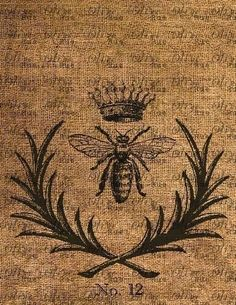 Royal Queen Bee Tattoos | No. 1033 Royal French Bee with Crown Photo Image by OliveRue