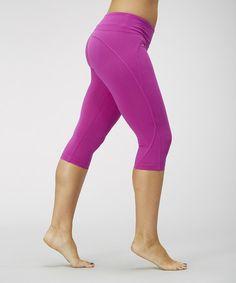 Loving this Neon Purple Curve-Seam Capri Leggings - Women on #zulily! #zulilyfinds