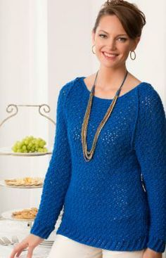 Holiday Sparkle Sweater Free Crochet Pattern from Red Heart Yarns