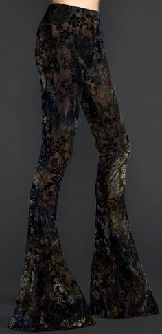 Oh man do I love these pants... PAISLEY BURNOUT VELVET BELL BOTTOM LEGGINGS by LIPSERVICE