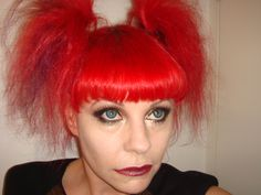 Red fraggle hair