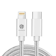 From 8.99 Usb C To Lightning Cablehunda Nylon Braided Usb 2.0 Male To Lightning Sync & Charge Data Cord Connector (1m/ 3.3ft) For Iphone 7/7 Plus / Ipad / New Macbook 2015 / Chromebook Pixel / Hp Pavilion