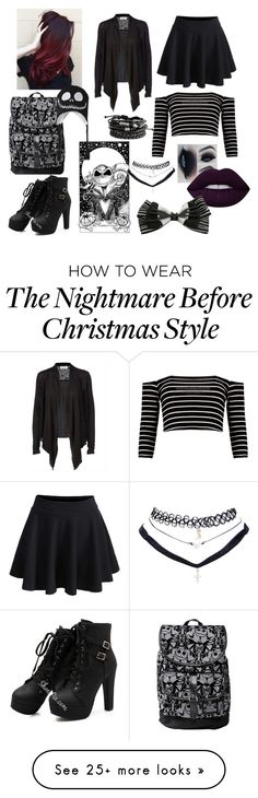 """Jack inspired look"" by mistyisablackunicorn on Polyvore featuring WithChic, Boohoo, Disney, Wet Seal and Lime Crime"
