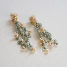 margaret plant earring , Greenの画像
