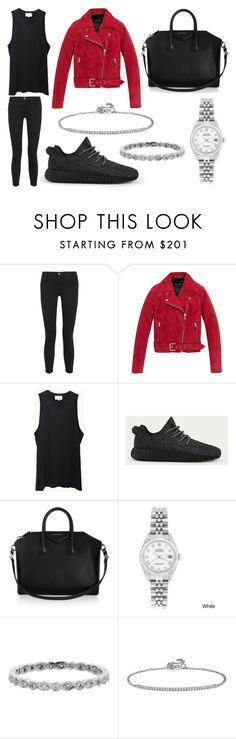 """""""Brunch and Running Errands"""" by laura2703 ❤ liked on Polyvore featuring Current/Elliott, Andrew Marc, 3.1 Phillip Lim, adidas, Givenchy, Rolex, Cathy Waterman and Blue Nile"""