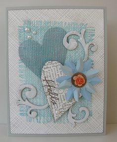 #Valentine'sDay Cards layers texture burlap swirls hearts