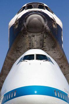 Space Shuttle piggy-back
