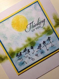 Card made with Stampin'ups Wetlands stamps.