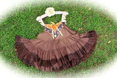 Rustic Cowgirl MudGuppy Babydoll  Ombre Chocolate With Vintage Details Sweetheart Of The Rdeo by IzzyRoo on Etsy