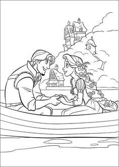 Flynn Ryder Rapunzel Tangled Coloring Page