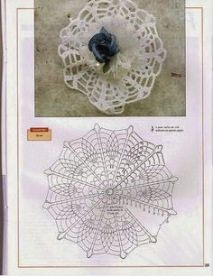 World crochet: Decoration 9 Crochet Sachet, Crochet Doilies, Crochet Stitches, Crochet Patterns, Crochet Hats, Crochet Butterfly, Crochet Flowers, Crochet Bowl, Crochet Storage