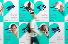 Rebranding for Farmaxpress, a pharmacy based in Santo Domingo that provides fast health anywhere and anytime. Pharmacy Design, Medical Design, Healthcare Design, Identity Design, Visual Identity, Tony Horton, Medical Posters, Medical Art, Interior Design Portfolios