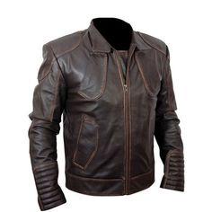 Men Biker Brown Distressed Leather Jacket Renegade 2