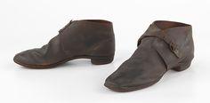 Brogans Date: 1860–65 Culture: American Medium: leather Dimensions: 4 1/2 x 11 in. (11.4 x 27.9 cm)