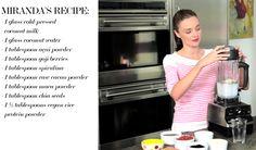 Miranda Kerr supermodel health secrets and morning smoothie recipe