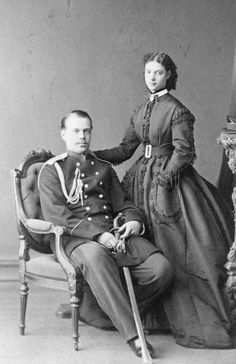 Dagmar and Alexander posing together