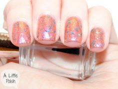 "@Tawdry Terrier ""Sunset Bitch"" - swatches and review at http://alittlepolish.blogspot.com/2013/08/tawdry-terrier-dog-days-of-summer.html #nailpolish #indienailpolish"