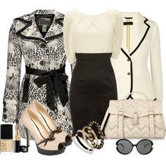 Black and cream by allisonbf on Polyvore