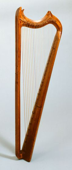 Gothic harp in Museum of Musical Instruments of the University of Leipzig