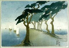 1912 Pines by the Sea Bertha Lum