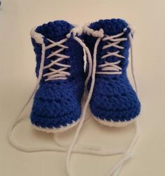 Baby Boxing Shoes/Boots Royal Blue 3-6 Mos