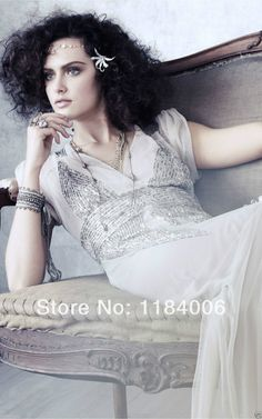 Free Shipping 2014 Hot Sale New Sexy V-Neck wedding dress HK-345 $184.99