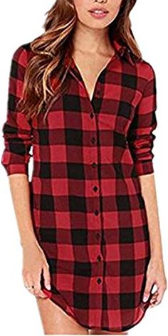 Smeiling Women Casual Plaid Print Long Sleeve Irregular Pullover