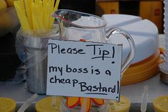 Tip Jars From Really Clever Employees Cheap Boss Tip Jar.totally need oneCheap Boss Tip Jar.totally need one Funny Tip Jars, Pub Decor, Funny Signs, Food Truck, Coffee Shop, Mason Jars, Things To Come, Entertaining, Tableware