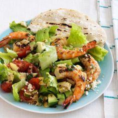PESCITARIAN ALERT!!!  Chopped Taco Salad With Shrimp Recipe